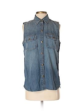 Current/Elliott Sleeveless Button-Down Shirt Size Sm (1)