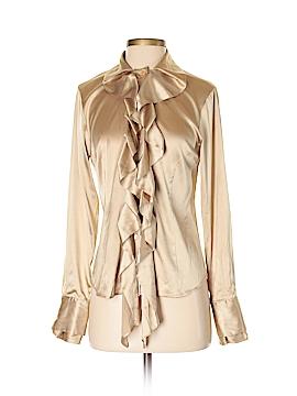 Yansi Fugel Long Sleeve Silk Top Size 4