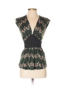 Diane von Furstenberg Short Sleeve Silk Top Size S