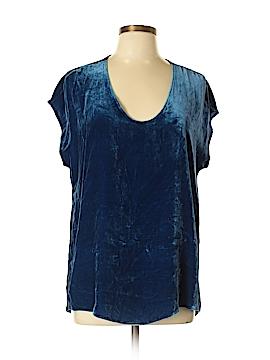 Drew Short Sleeve Silk Top Size L