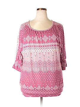 Fashion Bug 3/4 Sleeve Top Size 1X (Plus)