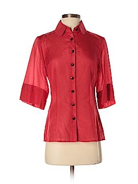 Kensie 3/4 Sleeve Button-Down Shirt Size S
