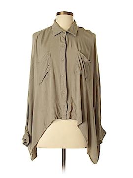 Pronto Long Sleeve Button-Down Shirt Size L