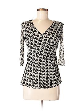 Diane von Furstenberg 3/4 Sleeve Silk Top Size M