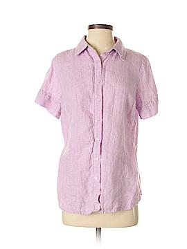 Coldwater Creek Short Sleeve Button-Down Shirt Size M