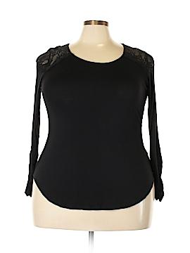 Bisou Bisou Long Sleeve Top Size 1X (Plus)