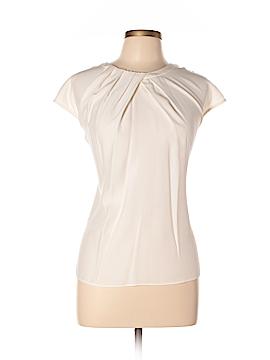 Lafayette 148 New York Short Sleeve Silk Top Size 14