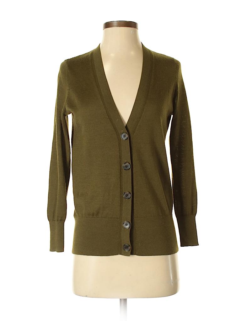 f4d11f57fa Ann Taylor LOFT Solid Green Cardigan Size S (Petite) - 73% off