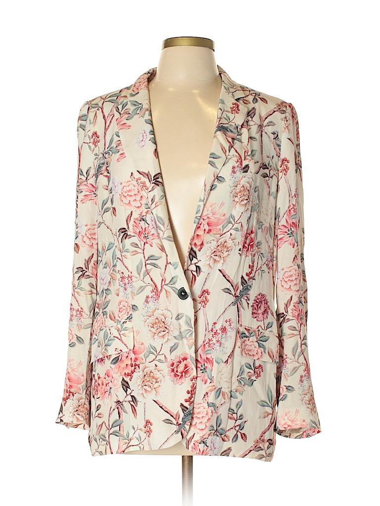 8045f3bf Zara 100% Viscose Print Light Pink Blazer Size L - 74% off | thredUP
