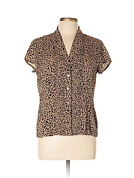 Jones New York Short Sleeve Silk Top Size 10