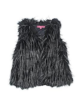 Betsey Johnson Faux Fur Vest Size 6