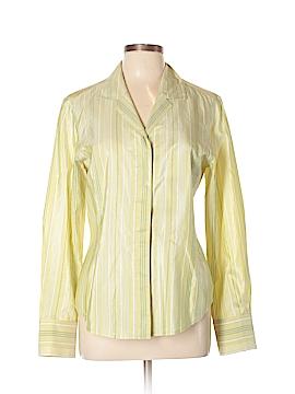 Linda Allard Ellen Tracy Long Sleeve Silk Top Size 10