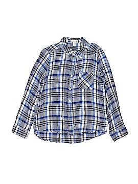 Monteau Girl Long Sleeve Button-Down Shirt Size 10 - 12