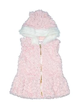 Little Lass Faux Fur Vest Size 4