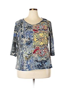 Ulla Popken 3/4 Sleeve Top Size 12/14