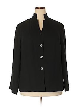 Liz Claiborne Collection Long Sleeve Button-Down Shirt Size 1X (Plus)