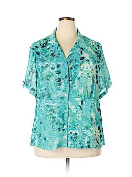 Sag Harbor Short Sleeve Blouse Size XXL