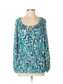 Ellen Tracy Long Sleeve Blouse Size M