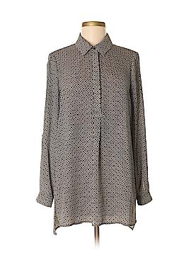 Pleione 3/4 Sleeve Button-Down Shirt Size M