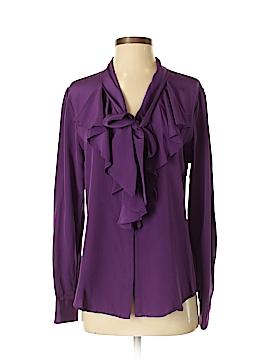 Lauren by Ralph Lauren Long Sleeve Silk Top Size 8