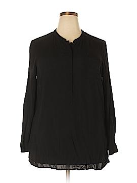 Dalia Collection Long Sleeve Blouse Size 1X (Plus)