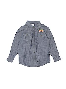 WonderKids Long Sleeve Button-Down Shirt Size 4T
