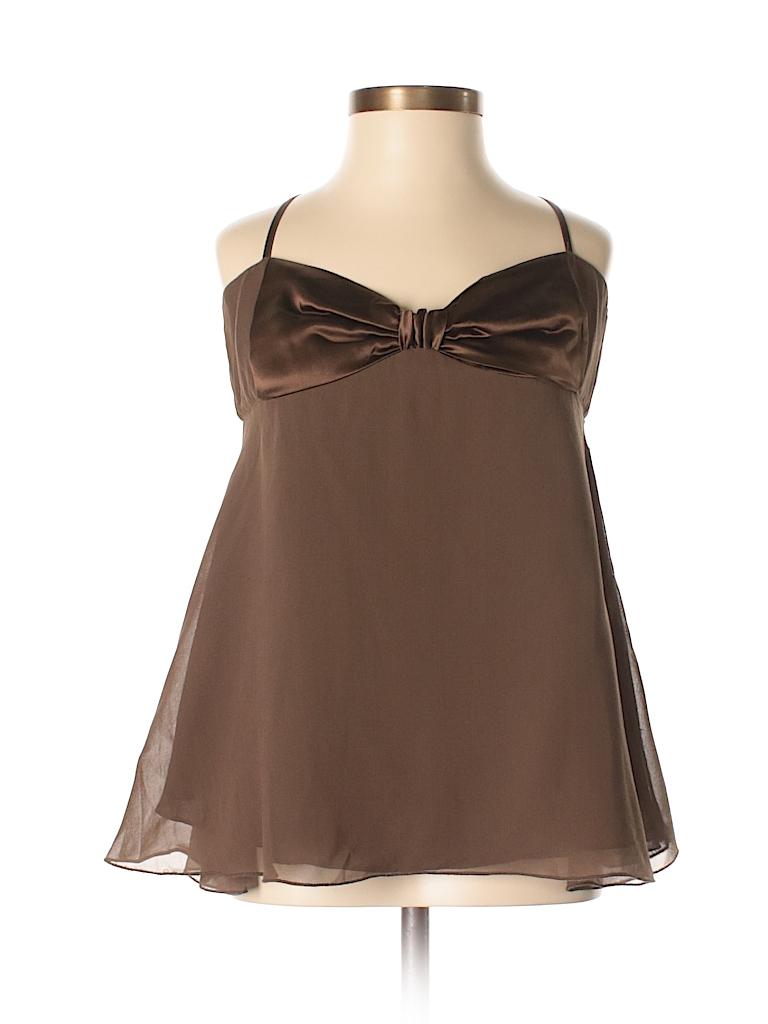 M.S.S.P. Women Sleeveless Silk Top Size XS