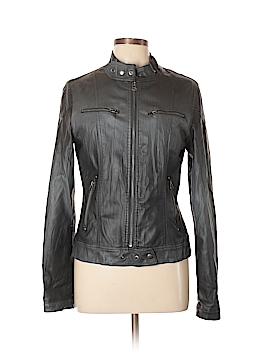 Daisy Faux Leather Jacket Size L