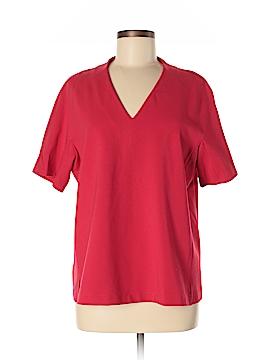 Lafayette 148 New York Short Sleeve Blouse Size L