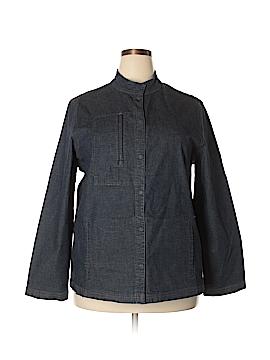 Eileen Fisher Denim Jacket Size 1X (Plus)