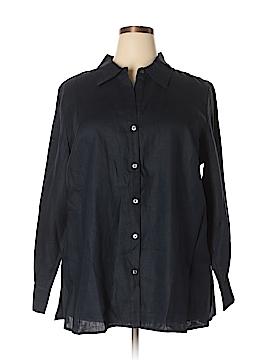 Kate Hill Long Sleeve Button-Down Shirt Size 2X (Plus)
