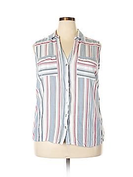 New York & Company Sleeveless Button-Down Shirt Size XXL