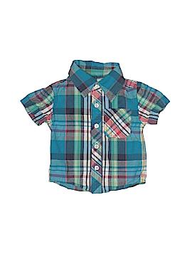 Peek... Short Sleeve Button-Down Shirt Size 3-6 mo
