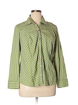 Venezia Long Sleeve Button-Down Shirt Size 14/16 Plus (Plus)