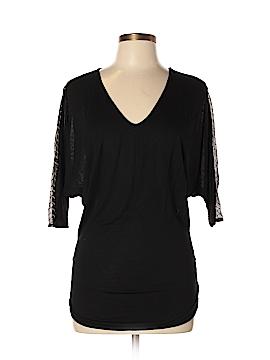Stella & Jamie Short Sleeve Silk Top Size L