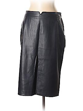 Zara Basic Faux Leather Skirt Size XL