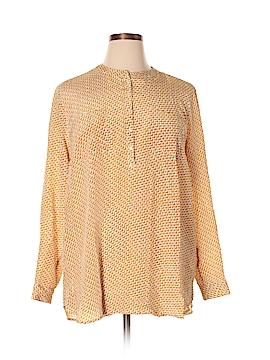 Lucky Brand Long Sleeve Silk Top Size XL
