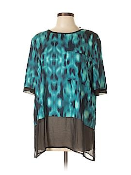 Calvin Klein Short Sleeve Blouse Size XL