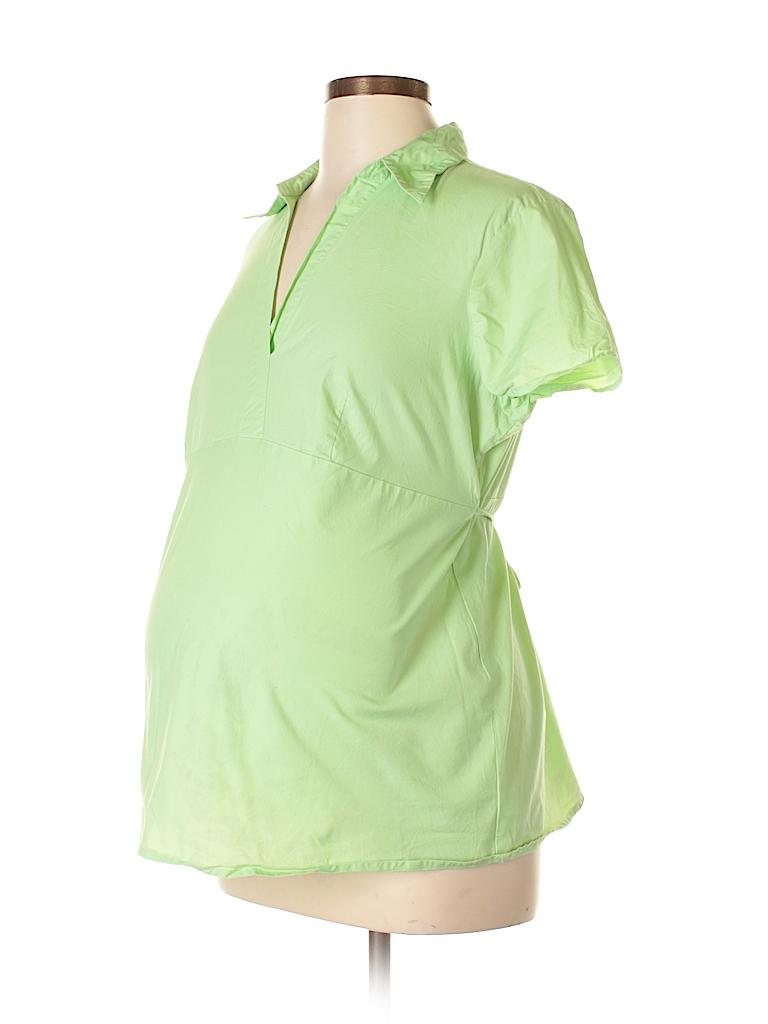 Motherhood Women Short Sleeve Blouse Size L (Maternity)