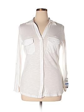 INC International Concepts Long Sleeve Button-Down Shirt Size XL