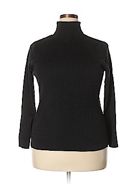 August Silk Turtleneck Sweater Size 1X (Plus)