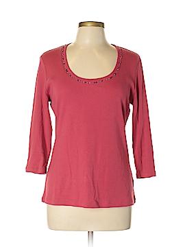 New York & Company 3/4 Sleeve T-Shirt Size L