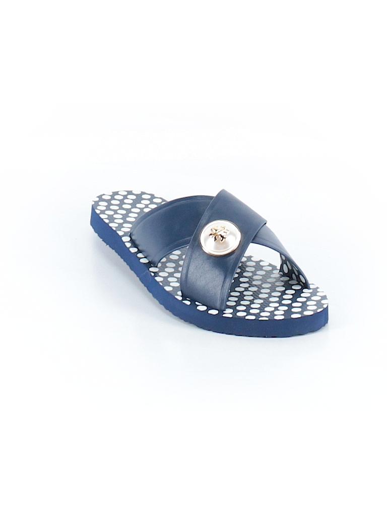 43a33e85a Tory Burch Polka Dots Navy Blue Sandals Size 8 - 78% off