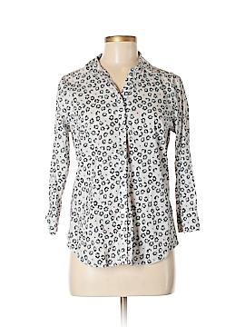 Liz Claiborne 3/4 Sleeve Button-Down Shirt Size M