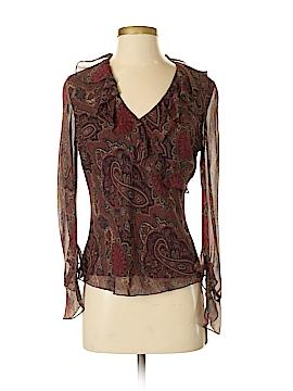Lauren by Ralph Lauren Long Sleeve Silk Top Size 4