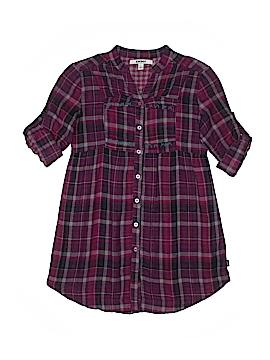 DKNY 3/4 Sleeve Button-Down Shirt Size L (Kids)