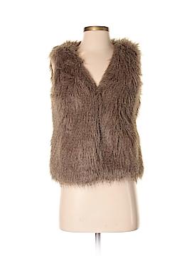 J. Crew Factory Store Faux Fur Vest Size XS