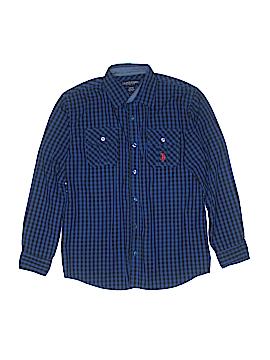 U.S. Polo Assn. Long Sleeve Button-Down Shirt Size 14