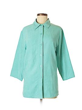 SW Studio Works 3/4 Sleeve Button-Down Shirt Size M