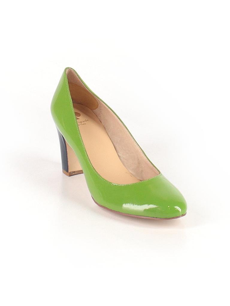 Kate Spade New York Solid Green Heels